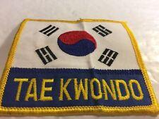 Tae Kwon Do w/ Korea Flag Patch