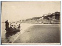 Egypte, en bateau sur le Canal de Suez  Vintage silver print.  Tirage argentiq