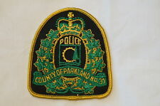 Canadian County of Parkland Police Patch Obsolete