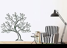 Wall Vinyl Sticker Tree Growth Foliage Green Life Force Decor (n418)