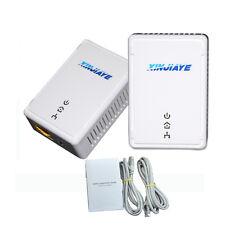 500Mbps EU PLC Powerline Ethernet Adapter Home Plug KIt WiFi Range Extender