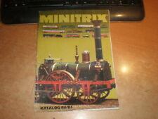 Minitrix catalogue 1984-85    Language: german   Katalog 1984-85 Deutsch