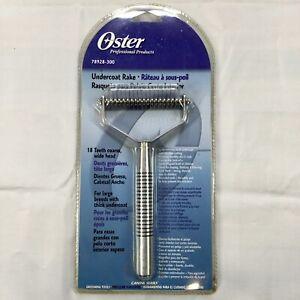 Oster Professional Pet Grooming Undercoat Rake, 18 Teeth Wide, Coarse 78928-300