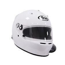 Arai GP-5 (A/C) PED w/ HANS White XL SA2005 Car Racing Helmet