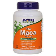 NOW Foods, Maca Crudo, 750mg X 90 Cápsulas Vegetarianas - Reproducción Salud