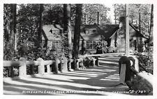 RPPC Manzanita Lake Lodge California Vintage Eastman Vintage Postcard ca 1940s
