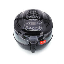 1400W Multifunctional Electric Air Fryer with Smart Cooking Function 5.8L Black