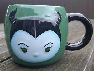 Disney Maleficent Tsum Tsum Coffee Mug Green Black 18oz Heavyweight Free Ship @