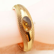 Women Dress Gold Color Quartz Wrist Bangle Watches Bracelet Wristwatch