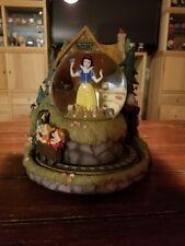 Snow White and the Seven Dwarfs Globe Glitter Musical Mine Train MOVES Cottage