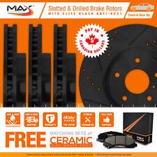 10 11 12 Fits Subaru Outback 2.5L Black Slot Drill Rotor Max Pads F+R