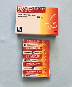 1 tablet Generic of Canesten Vaginal Internal thrush pessary 500mg