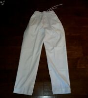 New Chef White Chef Pants Size: Large 65% Polyester 35% Cotton
