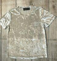 Ladies Size XS ~ Minkpink Crushed Velvet shirt / Top ~ MBC
