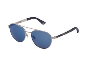 Sonnenbrille Police Authentic SPL891 Origins 4 579B Palladium Blau Verspiegelt