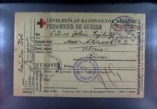 Camp 1915 Russia to Hungary POW Kriegsgefangenenpost Rotes Kreuz Red Cross 269