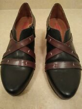 Pikolinos Leather Ankle Booties Heeled Straps sz 39/8 1/2