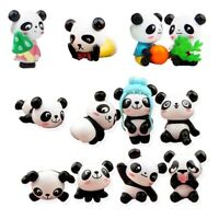 12 PCS Cute Pandas Toy Figurines Toy Cake Decoration Suitable for Cake Dec O3U4