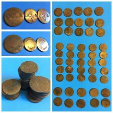 HUGE LOT of 50 Vintage UCLA Brass PARKING TOKENS 3-Different Coins USA 🇺🇸