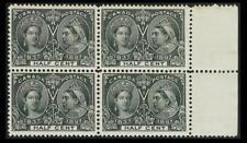 CANADA #50; 1/2¢ QUEEN VICTORIA JUBILEE, F/VF-OG-NH BLOCK OF 4, CV $1,100