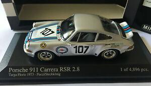 PORSCHE 911 RSR 28 TAGRA FLORIO 1973 PUCCI/STECKKONIG MINICHAMPS 430736907 1/43
