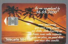 Télécarte carte téléphonique 50 u Loto Française des jeux palmier Tahiti keno