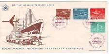 FDC 1964 Ersttag Indonesien Flugzeug Schiff Auto Fahrrad Bandung
