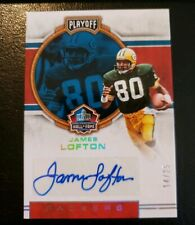 2017 Playoff Hall of Fame Autographs #HFA-JL James Lofton Auto /25 GB Packers