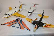 Playmobil 4 Flugzeuge - 2 Linienjets und 2 Wurf-Flieger