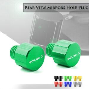 CNC M10x1.25mm Mirror-Hole Plugs Screws Caps for KAWASAKI VULCAN S 650 VULCAN S