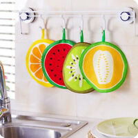 Creative Fruit Print Kitchen Hand Towel Microfiber Towel Cleaning Rag Dish Cloth