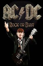 """AC/DC bandiera/bandiera """"Angus Young rock or Bust"""" POSTERFLAG"""