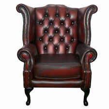 Leather Conservatory Antique Style Armchairs
