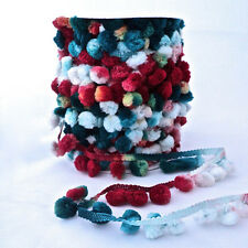 Berties Bows Multicoloured Pom Pom Trim - Teal/Winter Mix