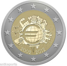 MONNAIE FRANCE 2012 UME UNION MONÉTAIRE EUROPEENNE DIXIÈME ANNIVERSAIRE RARE