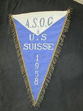 fanion wimpel pennant ancien XXL  A.S.O.C 1958 U.S SUISSE CYCLISME ? FOOTBALL ?