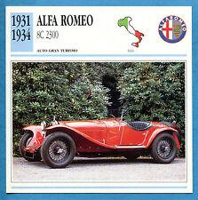SCHEDA TECNICA AUTO DA COLLEZIONE - ALFA ROMEO 8C 2300 1931-1934