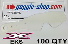 100 qty GOGGLE-SHOP MOTOCROSS TEAR OFFS to fit EKS BRAND GOGGLES flippers