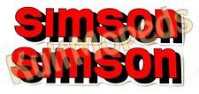2 étiquette approprié F SIMSON S51 S50 S70 S53 inscription rouge réservoir