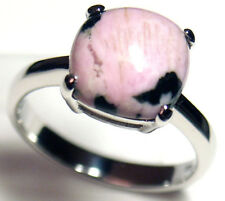 Gorgeous Woman Fancy Agate Silver Ring S 7.25 #152