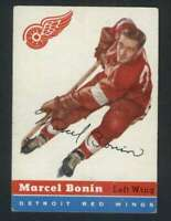 1954-55 Topps #59 Marcel Bonin EX/EX+ RC Rookie Red Wings 108208