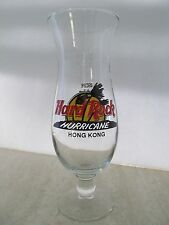 Hard Rock Cafe Hurricane Cocktail Drink Bar Glass Hong Kong Excellent Super Rare