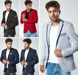 DSTREET Sakko Blazer Anzug Jacke Sportsakko Casual Unifarben Herren s-2xl