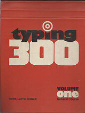 VINTAGE BOOK – TYPING 300 – VOLUME ONE GENERAL COURSE – GREGG - McGRAW HILL