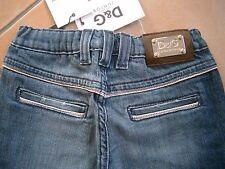 (H100) Dolce & Gabbana Girls Jeans Bermuda Hose mit Stahl Logo Plakette gr.104