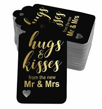 Real Foil Hugs And Kisses From The New Wedding Tags Favor Hang-SH5_2BG