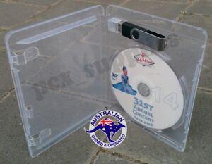 Blu-ray / DVD+USB stick thumb drive empty case 14mm cover Free Post