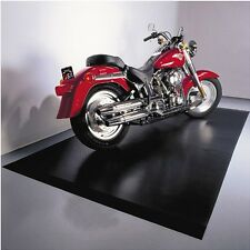 Garage Mat Protector Floor Motorcycle Plastic Black Mechanic Flooring Rug Bike