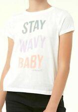 O'Neill Stay Wavy Girls Youth 100% Cotton Short Sleeve T-Shirt Medium White New