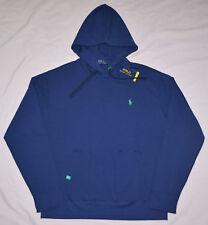 New L Large POLO RALPH LAUREN Mens pullover fleece hoodie sweatshirt Navy hoody